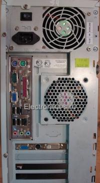 Компьютер Intel 3200 MHz S-775 позади